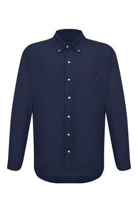Мужская хлопковая рубашка POLO RALPH LAUREN синего цвета, арт. 711654408/PRL BS | Фото 1