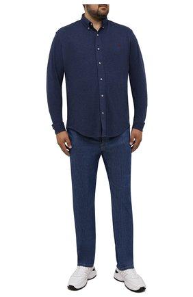 Мужская хлопковая рубашка POLO RALPH LAUREN синего цвета, арт. 711654408/PRL BS | Фото 2