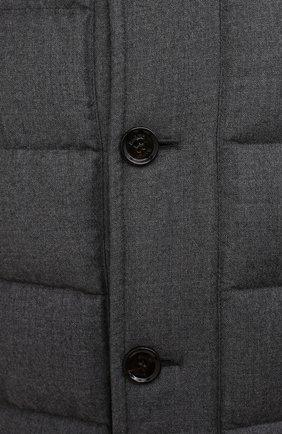 Мужская пуховик из шерсти и кашемира alfieri-fur-l MOORER серого цвета, арт. ALFIERI-FUR-L/M0UGI100104-TEPA217 | Фото 5 (Кросс-КТ: Куртка; Мужское Кросс-КТ: пуховик-короткий; Материал внешний: Шерсть; Рукава: Длинные; Длина (верхняя одежда): До середины бедра; Материал утеплителя: Пух и перо; Стили: Кэжуэл)