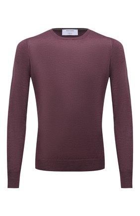 Мужской джемпер из шерсти и шелка GRAN SASSO фиолетового цвета, арт. 57167/13190 | Фото 1