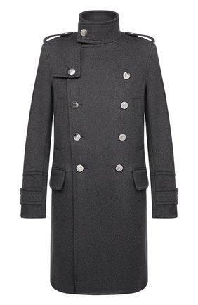 Мужской кашемировое пальто BALMAIN серого цвета, арт. WH1UD020/W070 | Фото 1