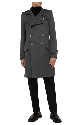Мужской кашемировое пальто BALMAIN серого цвета, арт. WH1UD020/W070 | Фото 2