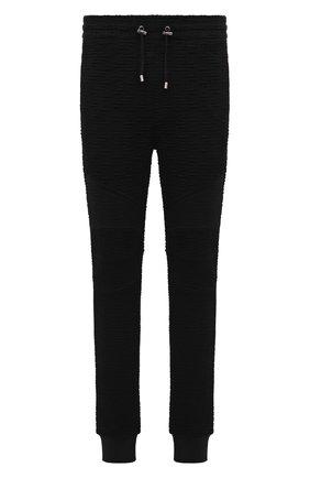 Мужские джоггеры BALMAIN черного цвета, арт. WH10B000/J296 | Фото 1
