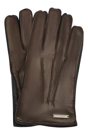 Мужские кожаные перчатки CORNELIANI темно-коричневого цвета, арт. 88Q318-1820590/00 | Фото 1