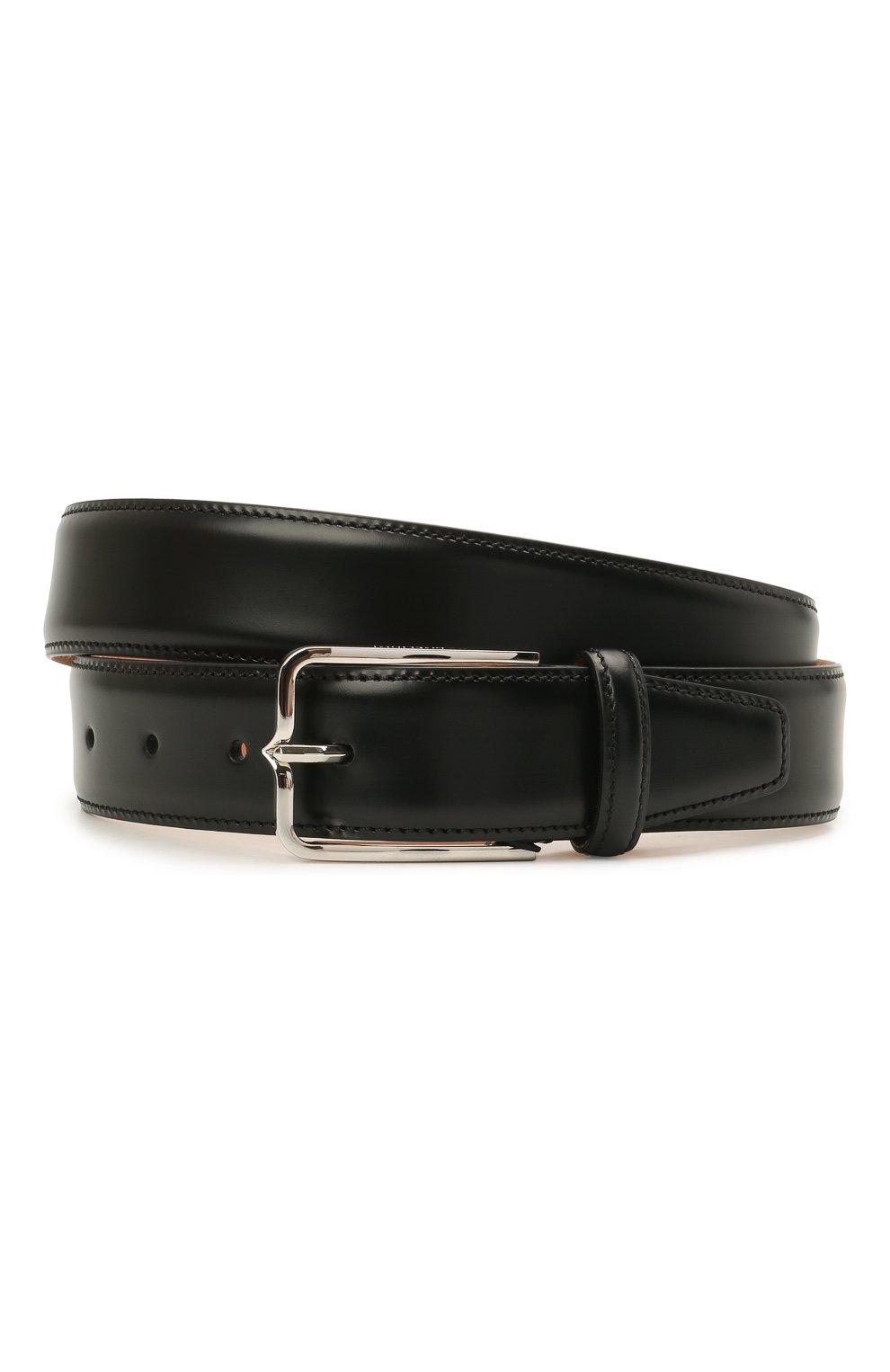 Мужской кожаный ремень CORNELIANI черного цвета, арт. 88V301-1820830/00   Фото 1 (Случай: Формальный)