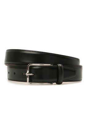Мужской кожаный ремень CORNELIANI черного цвета, арт. 88V301-1820830/00 | Фото 1