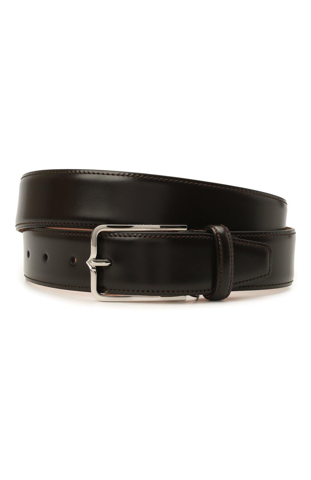 Мужской кожаный ремень CORNELIANI темно-коричневого цвета, арт. 88V301-1820830/00   Фото 1 (Случай: Формальный)