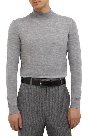 Мужской кожаный ремень CORNELIANI темно-коричневого цвета, арт. 88V301-1820830/00 | Фото 2 (Случай: Формальный)