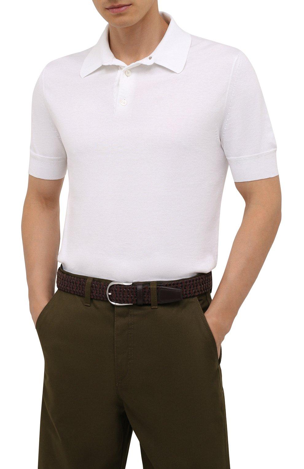 Мужской комбинированный ремень CORNELIANI коричневого цвета, арт. 88V358-1820834/00 | Фото 2 (Материал: Текстиль; Случай: Повседневный)