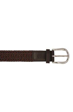 Мужской комбинированный ремень CORNELIANI коричневого цвета, арт. 88V358-1820834/00 | Фото 4 (Материал: Текстиль; Случай: Повседневный)