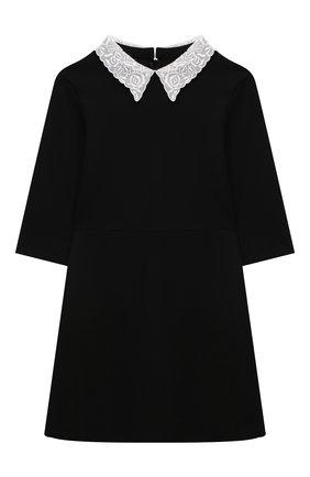 Детское платье из вискозы DAL LAGO черного цвета, арт. R254/8111/7-12   Фото 1