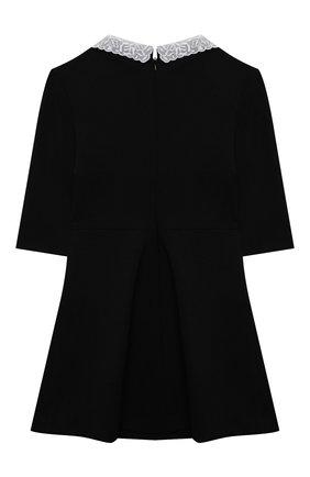 Детское платье из вискозы DAL LAGO черного цвета, арт. R254/8111/7-12   Фото 2