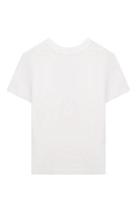 Детский хлопковая футболка POLO RALPH LAUREN белого цвета, арт. 320844817 | Фото 2 (Материал внешний: Хлопок; Рукава: Короткие; Ростовка одежда: 9 мес | 74 см, 12 мес | 80 см, 18 мес | 86 см)
