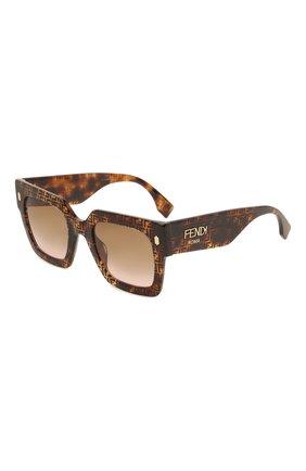 Женские солнцезащитные очки FENDI коричневого цвета, арт. 0457/G 2VM   Фото 1