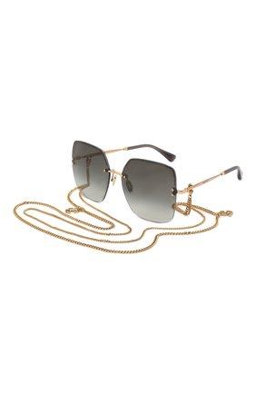 Женские солнцезащитные очки и цепочка JIMMY CHOO черного цвета, арт. TAVI/N 000 | Фото 1
