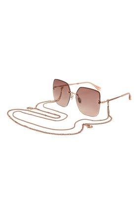 Женские солнцезащитные очки и цепочка JIMMY CHOO розового цвета, арт. TAVI/N DDB | Фото 1