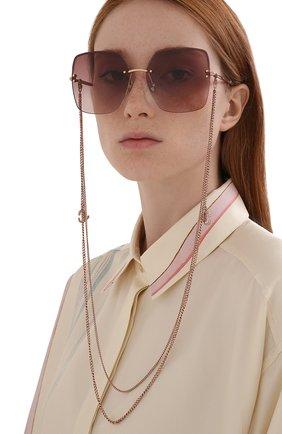 Женские солнцезащитные очки и цепочка JIMMY CHOO розового цвета, арт. TAVI/N DDB | Фото 2