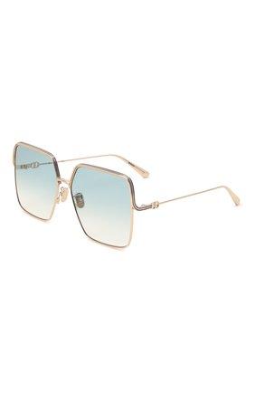 Женские солнцезащитные очки DIOR золотого цвета, арт. EVERDI0R S1U C0B1 | Фото 1
