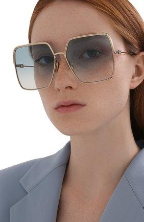 Женские солнцезащитные очки DIOR золотого цвета, арт. EVERDI0R S1U C0B1 | Фото 2