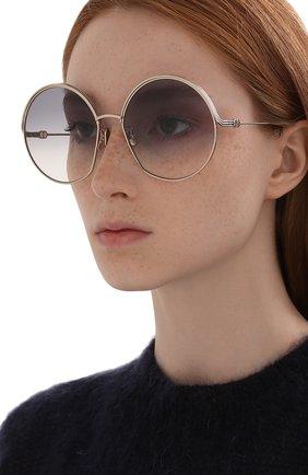 Женские солнцезащитные очки DIOR золотого цвета, арт. EVERDI0R R1U C0A2 | Фото 2