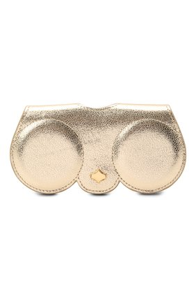 Женские кожаный футляр для очков ANY DI золотого цвета, арт. SP101602 G0LD | Фото 1