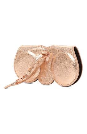 Женские кожаный футляр для очков ANY DI золотого цвета, арт. SP101602 R0SE G0LD | Фото 2