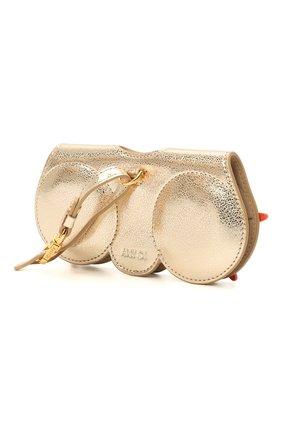Женские кожаный футляр для очков ANY DI золотого цвета, арт. SP101602 SEA STAR | Фото 2