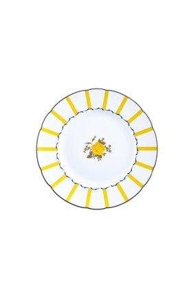 Тарелка салатная brocante jaune BERNARDAUD желтого цвета, арт. 1974/17 | Фото 1 (Ограничения доставки: fragile-2)
