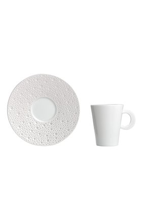 Кофейная чашка с блюдцем ecume perle BERNARDAUD белого цвета, арт. 1975/20451 | Фото 1 (Ограничения доставки: fragile-2)