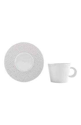 Чайная чашка с блюдцем ecume perle BERNARDAUD белого цвета, арт. 1975/20454 | Фото 1 (Ограничения доставки: fragile-2)