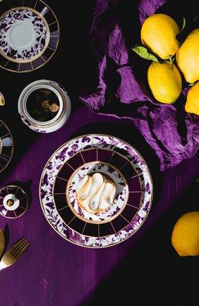 Тарелка сервировочная prunus BERNARDAUD фиолетового цвета, арт. 1831/7 | Фото 2 (Ограничения доставки: fragile-2)
