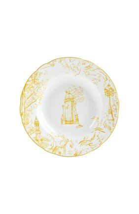 Тарелка суповая tout paris  BERNARDAUD желтого цвета, арт. 1980/23 | Фото 1 (Ограничения доставки: fragile-2)