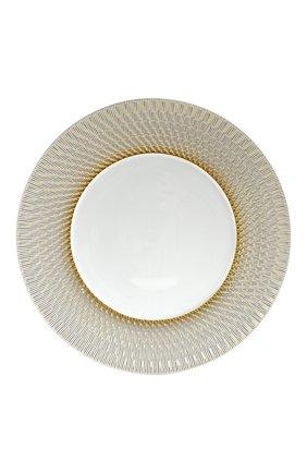 Тарелка сервировочная twist again BERNARDAUD золотого цвета, арт. 1981/7 | Фото 1