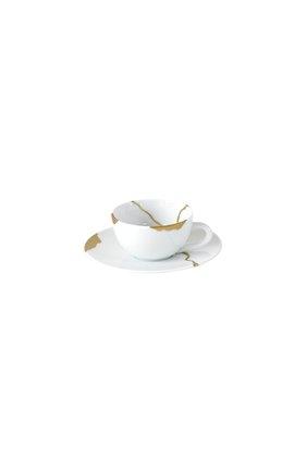 Кофейная чашка с блюдцем kintsugi BERNARDAUD белого цвета, арт. 1095/21509 | Фото 1 (Ограничения доставки: fragile-2)