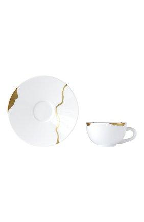 Кофейная чашка с блюдцем kintsugi BERNARDAUD белого цвета, арт. 1095/21509 | Фото 2 (Ограничения доставки: fragile-2)