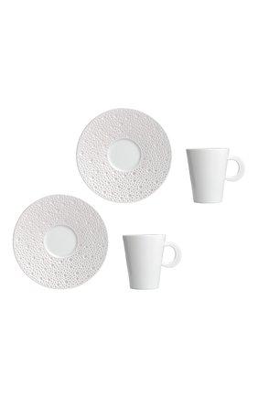 Набор ecume perle из двух кофейных чашек с блюдцами BERNARDAUD белого цвета, арт. 1975/21957 | Фото 1 (Ограничения доставки: fragile-2)