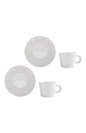 Набор ecume perle из двух чайных чашек с блюдцами BERNARDAUD белого цвета, арт. 1975/22665 | Фото 1 (Ограничения доставки: fragile-2)