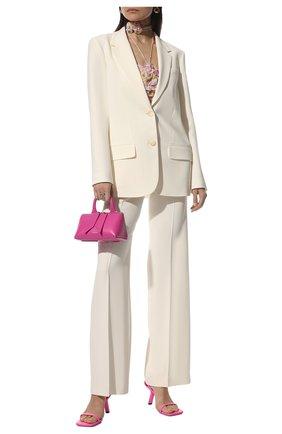 Женские кожаные босоножки void m80 BALENCIAGA розового цвета, арт. 659881/WA910 | Фото 2