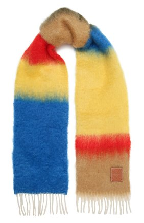 Женский шарф LOEWE бежевого цвета, арт. F526487X07 | Фото 1