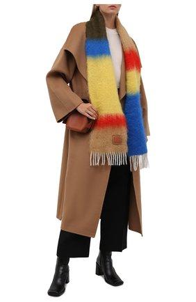 Женский шарф LOEWE бежевого цвета, арт. F526487X07 | Фото 2