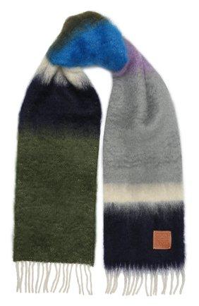 Женский шарф LOEWE серого цвета, арт. F526487X07 | Фото 1