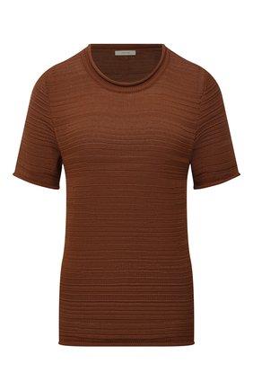 Женский хлопковый топ THE ROW коричневого цвета, арт. 5703Y512 | Фото 1