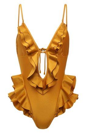 Женский слитный купальник ZIMMERMANN золотого цвета, арт. 6528WALI | Фото 1