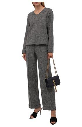 Женские брюки из шерсти и кашемира GIORGIO ARMANI коричневого цвета, арт. 1WHPP0IN/T02N7   Фото 2