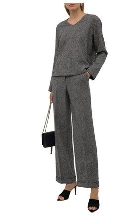 Женский пуловер из шерсти и кашемира GIORGIO ARMANI коричневого цвета, арт. 1WHCC01G/T02N7   Фото 2