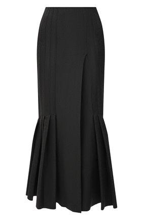Женская юбка из вискозы THE ATTICO серого цвета, арт. 213WCS55/V027 | Фото 1