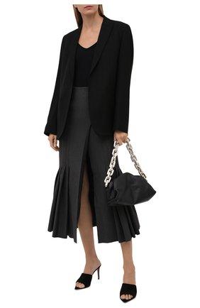 Женская юбка из вискозы THE ATTICO серого цвета, арт. 213WCS55/V027 | Фото 2
