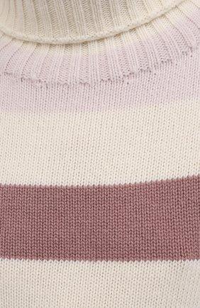 Женский свитер из шерсти и кашемира MANZONI24 розового цвета, арт. 21M348-XR/38-46 | Фото 5 (Женское Кросс-КТ: Свитер-одежда; Материал внешний: Шерсть, Кашемир; Рукава: Длинные; Длина (для топов): Стандартные; Стили: Кэжуэл)