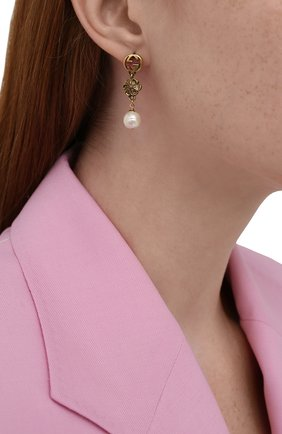 Женские серьги GUCCI золотого цвета, арт. 661127/I4620 | Фото 2