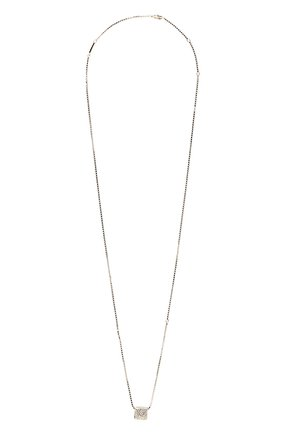 Женская кулон на цепочке rocstud VALENTINO серебряного цвета, арт. WW2J0I71/YCW | Фото 1 (Материал: Металл)